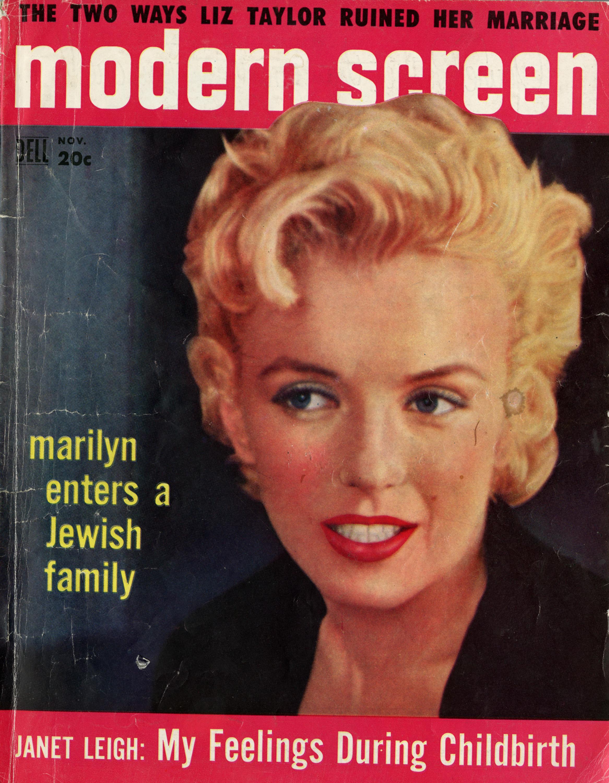 Marilyn Monroe On The Cover Of Modern Screen, November 1956.