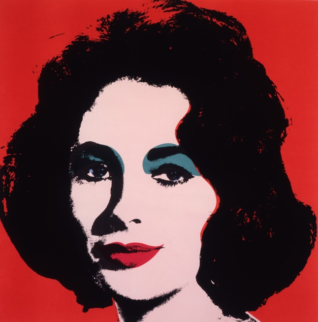 Andy Warhol, Liz, 1964, offset lithograph on paper. The Andy Warhol Museum, Pittsburgh; Founding Collection, Contribution The Andy Warhol Foundation for the Visual Arts, Inc. 1998.1.2374. (Credit: The Andy Warhol Foundation for the Visual Arts, Inc/Artist Rights Society (ARS), New York.