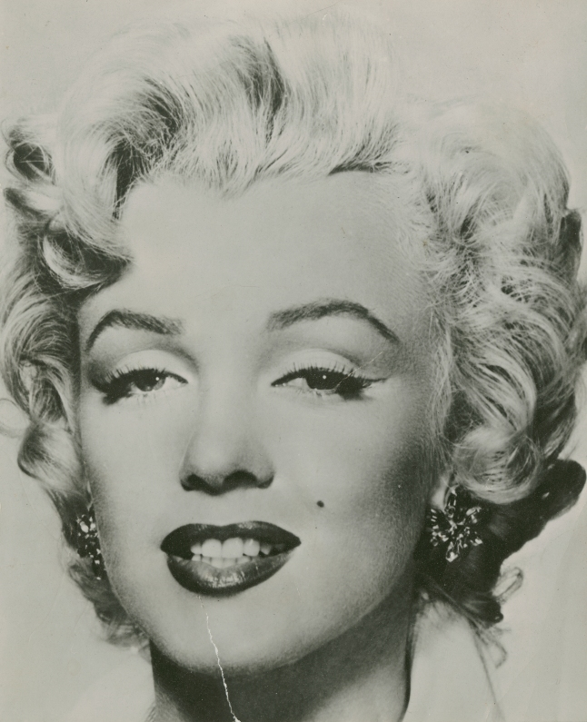 Marilyn Monroe, Source for Warhol's 'Marilyn' Series, c. 1953. Collection of The Andy Warhol Museum, Pittsburgh. Image provided by The Andy Warhol Museum, Pittsburgh.