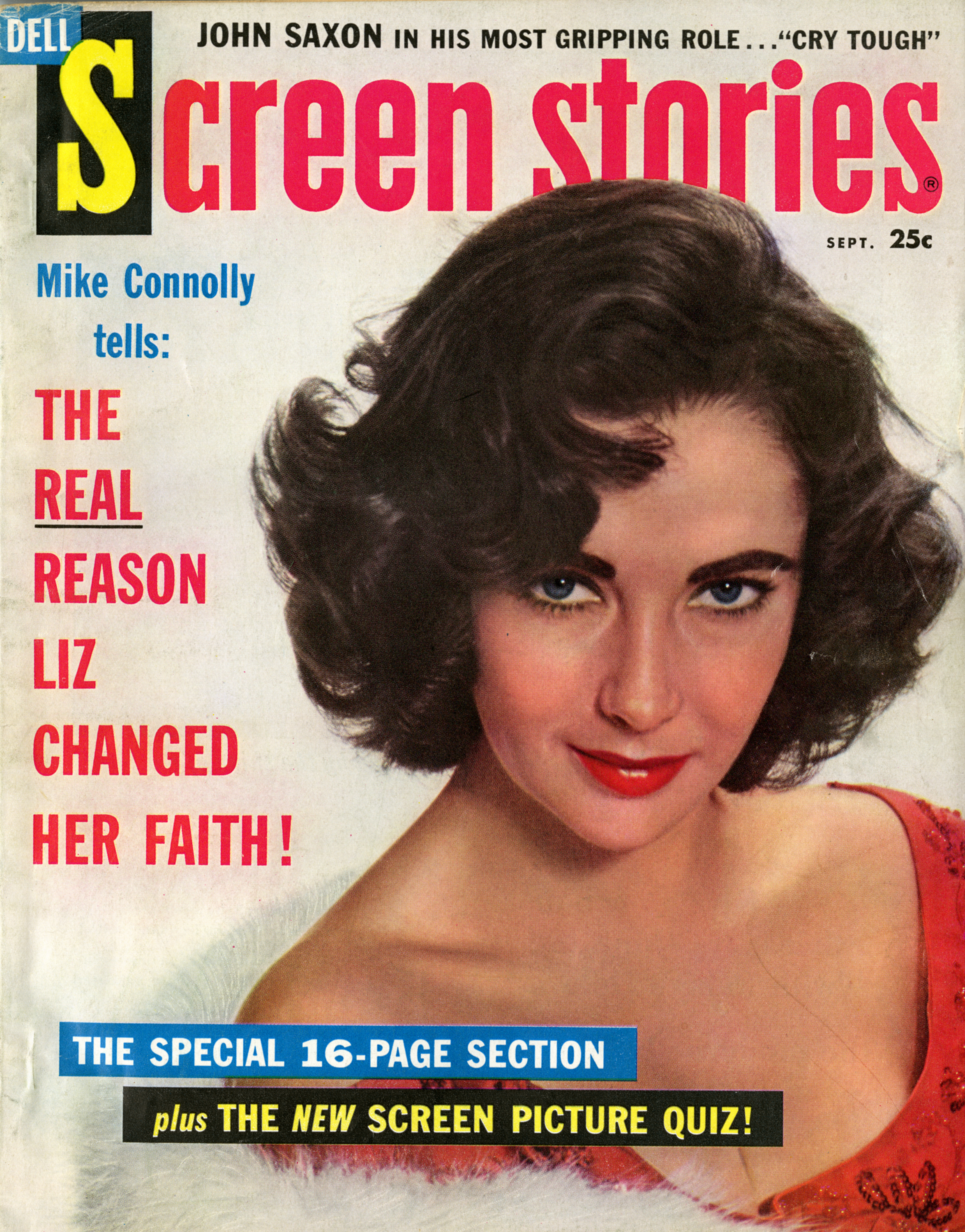Elizabeth Taylor On The Cover Of Screen Stories, September 1959