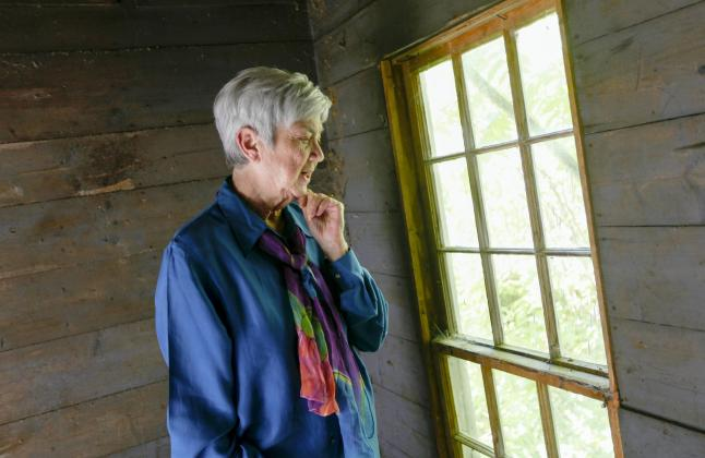 Ellen Bryant Voigt is seen at her home on Thursday, September 17, 2015 in Cabot, VT. The poet was recently selected as one of the 2015 MacArthur Fellows.