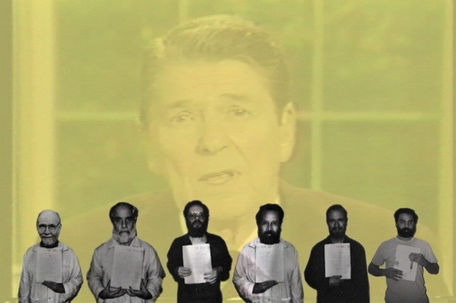 Walid Raad. Hostage: The Bachar tapes (English version). 2001. Video (color, sound), 16:17 min. The Museum of Modern Art, New York. Gift of the Jerome Foundation in honor of its founder, Jerome Hill, 2003. © 2015 Walid Raad