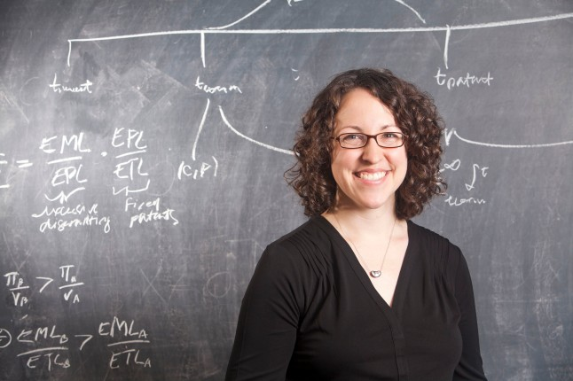 Heidi Williams of the MIT Department of Economics in Cambridge, Massachusetts, Tuesday, September 15, 2015. (John D. and Catherine T. MacArthur Foundation)