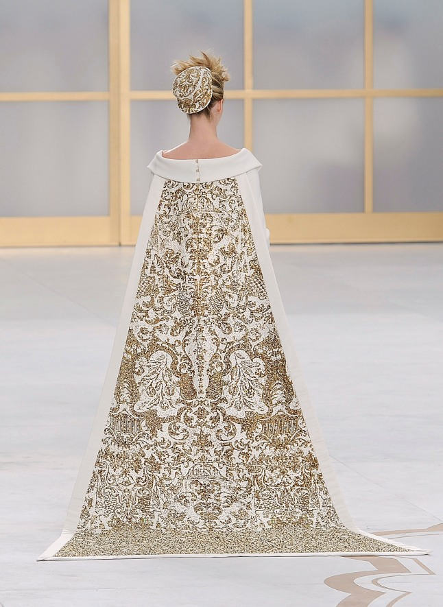 Wedding dress, Karl Lagerfeld, (French, born Hamburg, 1938) for House of Chanel (French, founded 1913), fall/winter 2014–15 haute couture, back view. Courtesy of The Metropolitan Museum of Art, Photo by Catwalking