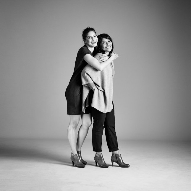 Johanna & Johanny Sambucini wearing the Naturalizer Maureen (PRNewsFoto/Caleres, Inc.)