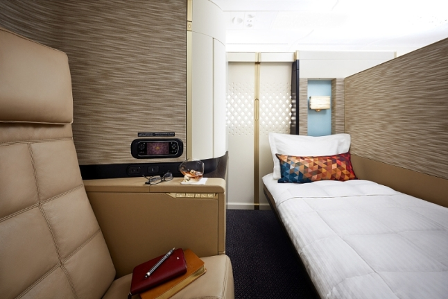 Etihad Airways - A380 First Apartment Bed & Seat (PRNewsFoto/Etihad Airways)