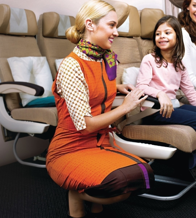 Etihad Airways - A380 Economy Smart Seat (PRNewsFoto/Etihad Airways)