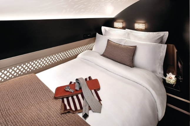 Etihad Airways A380 The Residence Bedroom (PRNewsFoto/Etihad Airways)