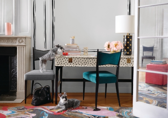 kate spade new york launches a complete assortment of offerings for every room in the home, with furnishings, lighting, rugs and fabrics. (PRNewsFoto/kate spade new york)