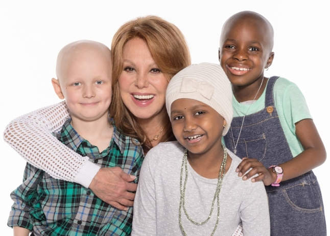 Marlo Thomas, National Outreach Director for St. Jude Children's Research Hospital, helps kick off St. Jude Thanks and Giving, an annual campaign that has transformed the holiday season into a time of giving thanks by raising awareness and funds for the ongoing battle to end childhood cancer and other life-threatening diseases. (PRNewsFoto/St. Jude Children's Research...)