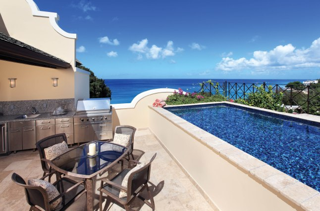 Langara Penthouse Pool, Blue Sky Luxury: The Penthouse features a private pool and guests can also opt for a closer look at the Platinum Coast of Barbados on the Langara yacht.