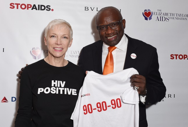 Press conference to announce a new push to fast-track the end of the AIDS epidemic in the Mulanje District of Malawi at Getty Images Gallery on October 12, 2015 in London, England. The initiative is being led by The Elizabeth Taylor AIDS Foundation and STOPAIDS. (Photo by Tabatha Fireman/Getty Images)