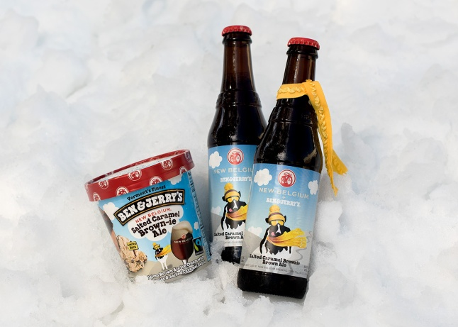 Ben & Jerry's Partners with New Belgium Brewing and releases Salted Caramel Brown-ie Ale (2)