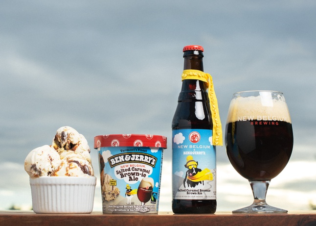 Ben & Jerry's Partners with New Belgium Brewing and releases Salted Caramel Brown-ie Ale