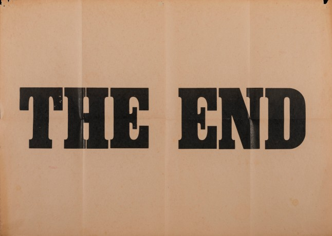 Casas Riegner, Adolfo Bernal, The End, 1980. Courtesy the artist and the gallery
