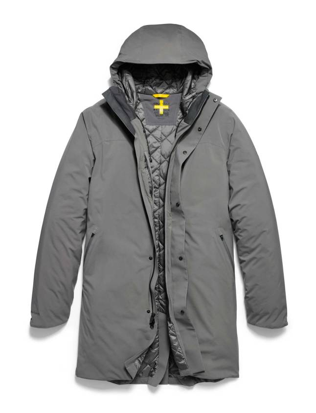 Cole Haan + Mountain Hardwear ZerøGrand Outerwear – Men's ZerøGrand Trench Coat in Titanium