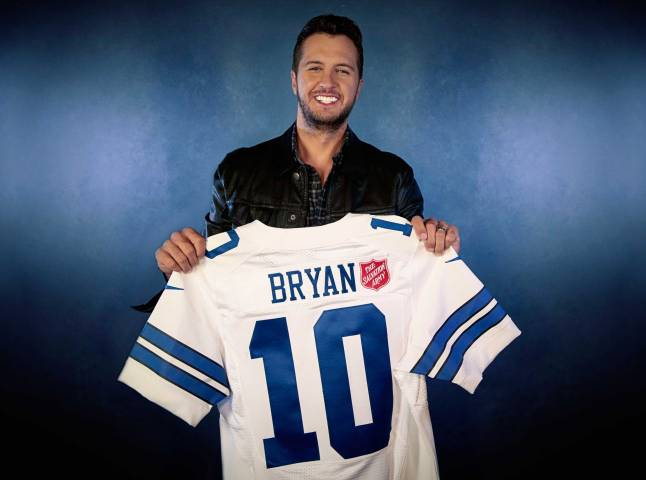 Country music superstar Luke Bryan will take the stage for this year's Salvation Army Red Kettle Kickoff halftime performance during the Dallas Cowboys Thanksgiving Day game.