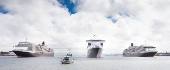 Cunard Three Queens: Queen Mary 2, Queen Victoria and Queen Elizabeth