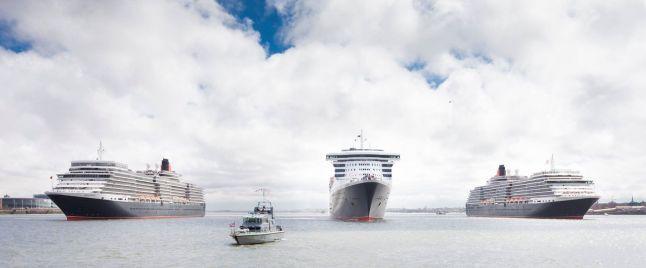 Cunard Three Queens: Queen Mary 2, Queen Victoria and Queen Elizabeth