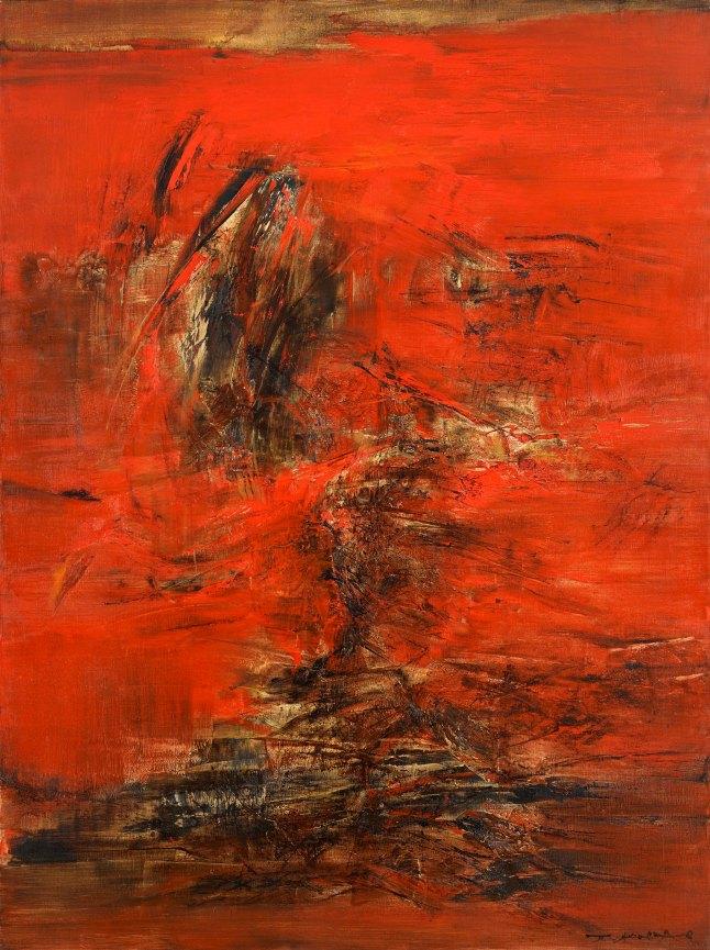 de Sarthe Gallery, Zao Wou-Ki, Untitled, 1963. Courtesy the artist and de Sarthe Gallery