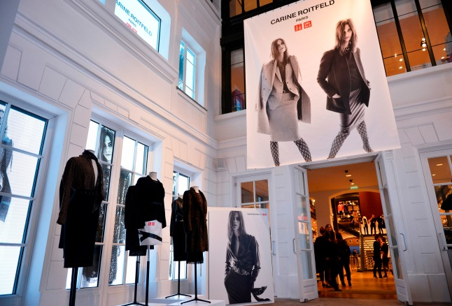 Carine Roitfeld Collection x UNIQLO UNIQLO store in Le Marais. Photo by Jean Picon.