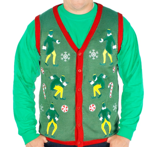 """ELF"" Lighted Vest Sweater"