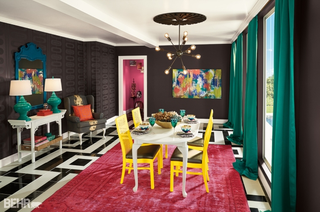 High Contrast Dining Room (Black Pearl T16-01)