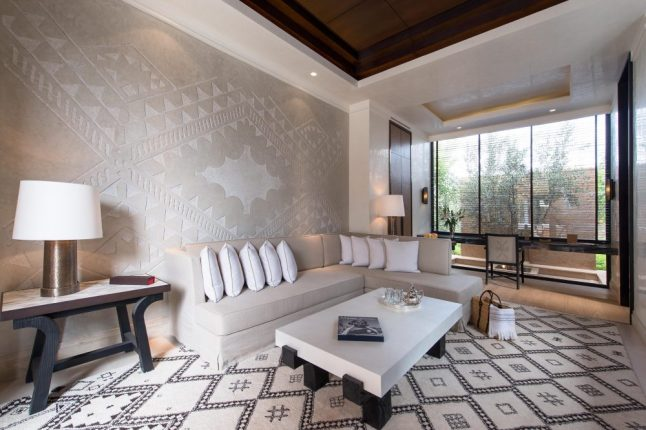 Mandarin Oriental Marrakech Pool Villa Living Room