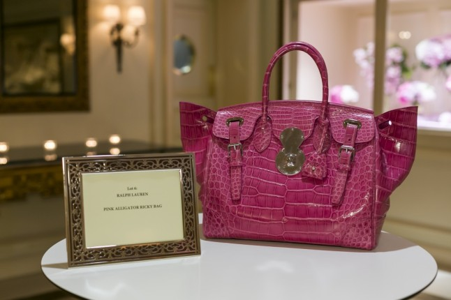 Peninsula - Pink Tie Gala 2015 - Ralph Lauren Pink Alligator Ricky Bag