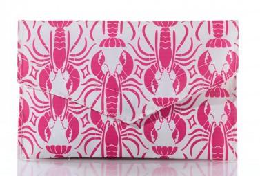 Pink Lobster Cure Envelope Clutch