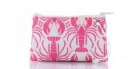Pink Lobster Cure Wristlet