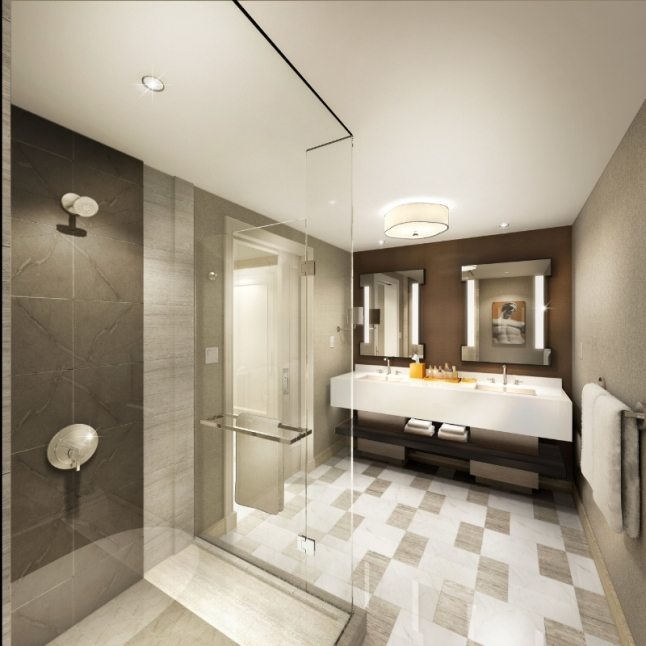 Renderings of New Julius Bathroom; Photo Credit Caesars Palace Las Vegas (PRNewsFoto/Caesars Palace Las Vegas)