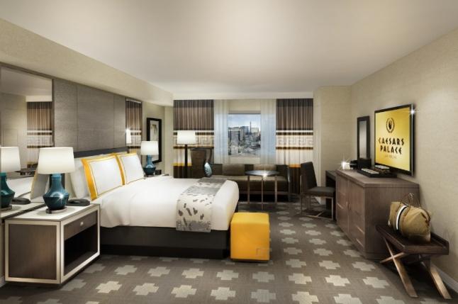 Renderings of New Julius Tower King Room; Photo Credit: Caesars Palace Las Vegas (PRNewsFoto/Caesars Palace Las Vegas)
