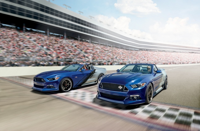 The 2015 Neiman Marcus Limited-Edition Mustang Convertible commemorates Mustang's 50th anniversary.