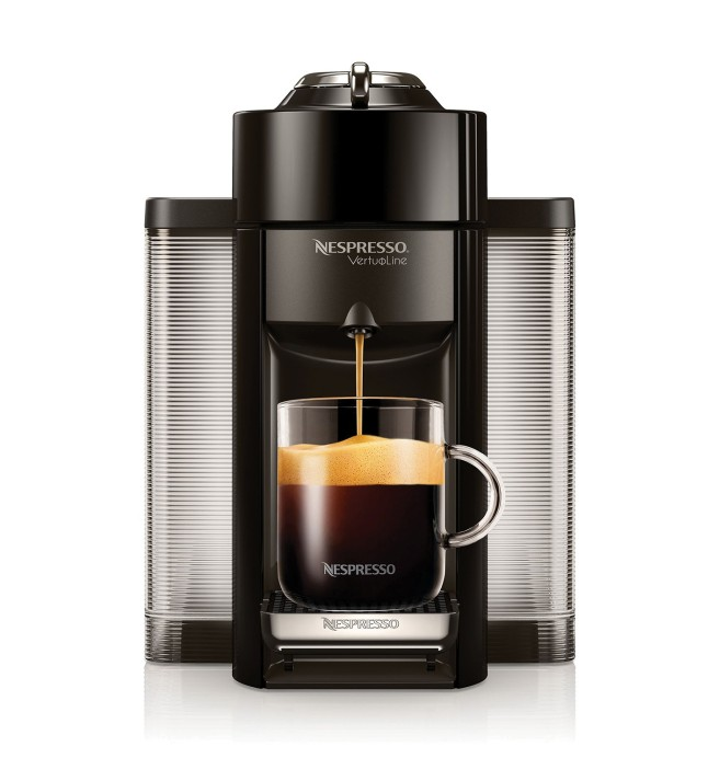 The new VertuoLine™ Evoluo machine, which brews both large-cup coffee and authentic espresso, is featured in the 'Experience a cup above' campaign
