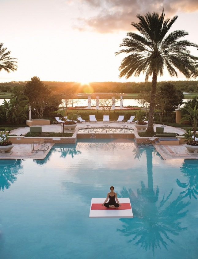 Yoga in Pool (Photo Credit: The Ritz-Carlton, Orlando)