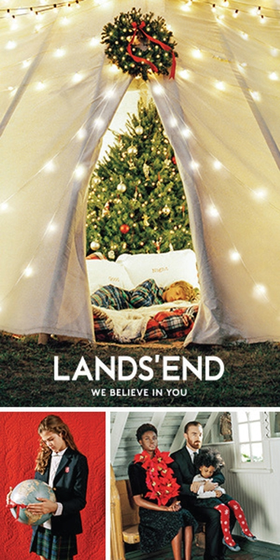 "Lands' End is announcing a new global, multimedia holiday campaign captured by iconic American photographer Bruce Weber. The extraordinary campaign, ""We Believe in You"", visually portrays the heartfelt moments and genuine connections of multigenerational families and friends.  These beautiful images and videos will bring the brand's holiday campaign to life debuting on landsend.com and globally in print, online and on social media beginning in early November. (PRNewsFoto/Lands' End, Inc.)"