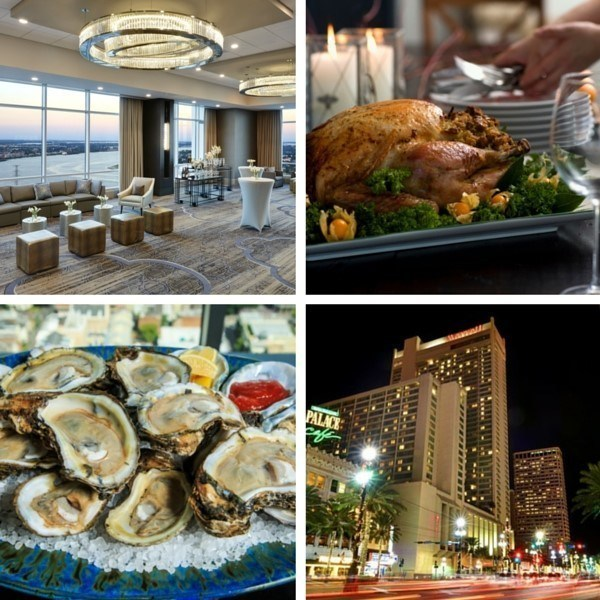 New Orleans Marriott is bringing back its popular Riverfront Thanksgiving Buffet, and visitors and New Orleans natives alike can celebrate the holiday from the hotel's renovated 41st floor event space. For information and the feast menu, visit www.marriott.com/MSYLA or call 1-504-581-1000. (PRNewsFoto/New Orleans Marriott)
