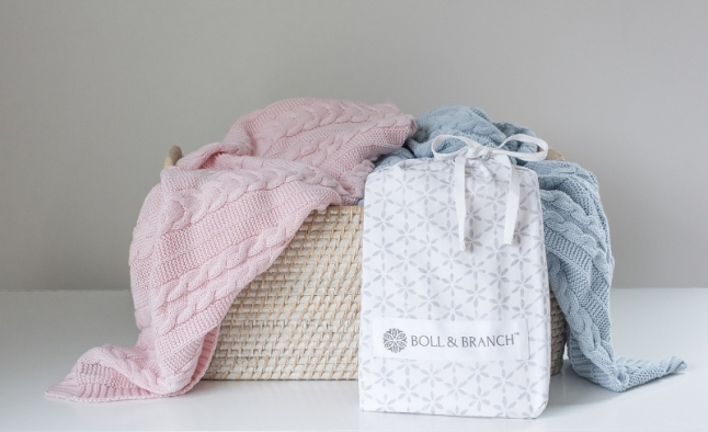 Boll & Branch launches line of organic baby products. (PRNewsFoto/Boll & Branch)