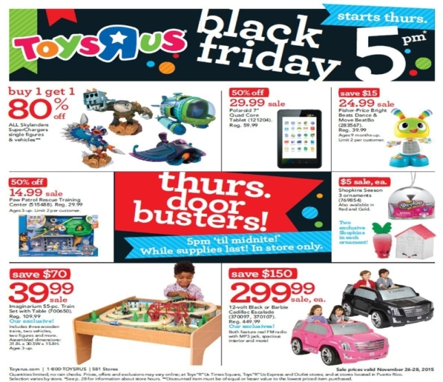 "Toys""R""Us Reveals Thanksgiving Weekend and Black Friday Deals. (PRNewsFoto/Toys""R""Us, Inc.)"