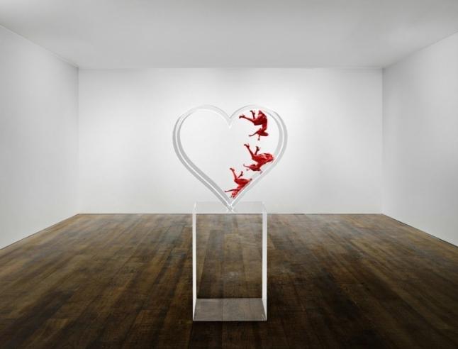 David Drebin (B. 1970 - ); Falling in Love, 2015; Photo Sculpture; 76 x 40 x 24 inches; Also available in 3/4 size (PRNewsFoto/Contessa Gallery)