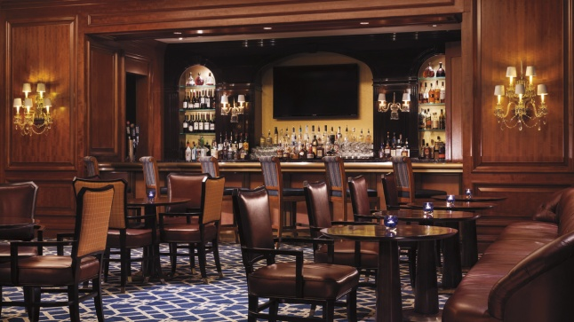 A seat at the bar in the Lobby Lounge of The Ritz-Carlton, St. Louis is one of the most sought-after in the city.