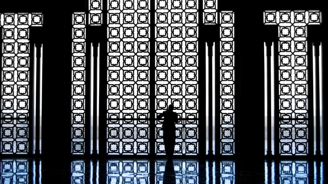 A woman inside the King Hassan mosque in Casablanca, morocco; Shutterstock ID 51504070; Client: Four Seasons Hotels and Resorts; Job: Four Seasons Image Library; Project: Casablanca Images for FS Library