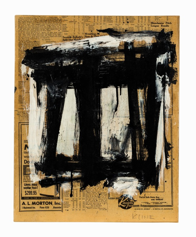 Auctionata '100 Masterworks', Lot 34 - Franz Kline (1910-1962), Untitled, Mixed Media, c. 1954