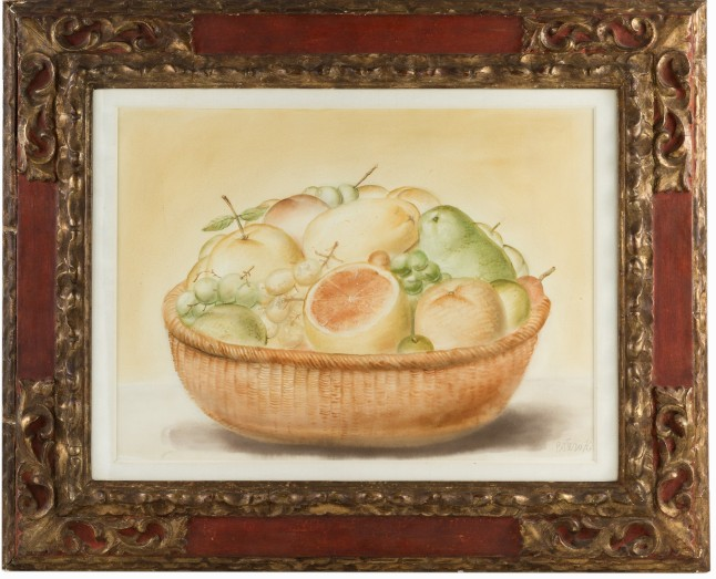 Auctionata_100Masterworks_Lot 7 - Fernando Botero, Still life with fruit, Watercolour, 1976