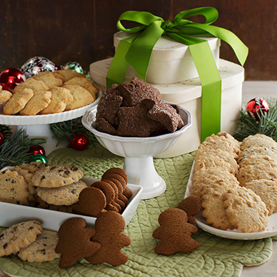 Classic Two-Tier Holiday Cookie Tower (large)