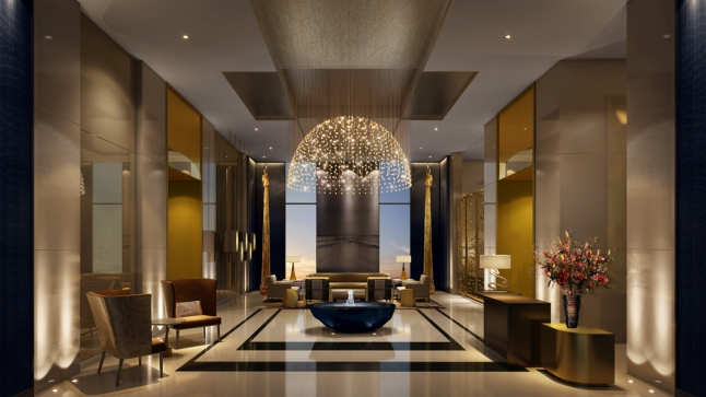 Artist rendering of the Lobby t the Four seasons DIFC.