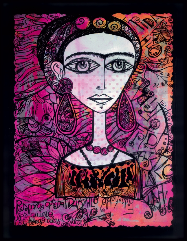 Limited Edition Kahlo Scarf  Charity Scarf