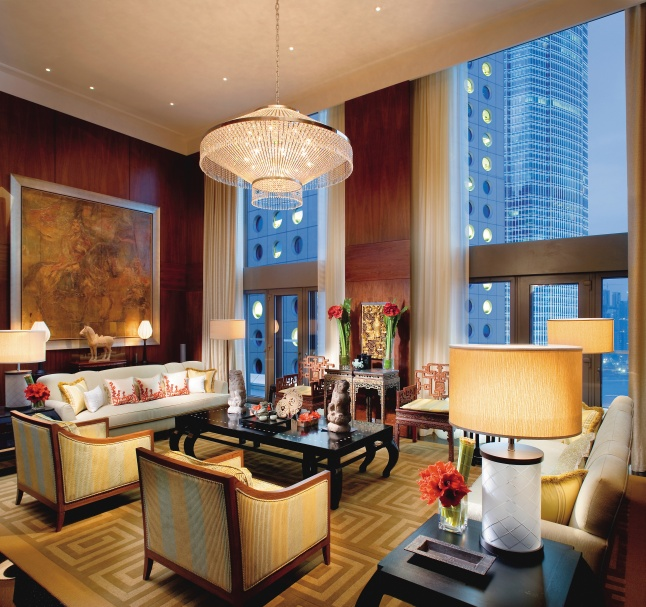 Mandarin Suite Living Room at Mandarin Oriental, Hong Kong