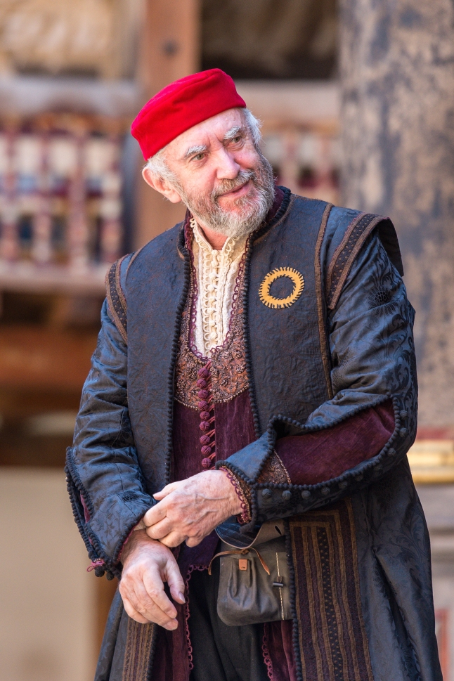 Jonathan Pryce as Shylock in Shakespeare's Globe Theatre's production of The Merchant of Venice, featured at Chicago Shakespeare Theater as part of Shakespeare 400 Chicago in 2016. Photo by Manuel Harlan.